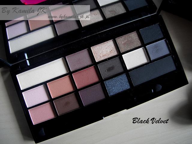 Makeup Revolution paleta cieni z sercem Black Velvet