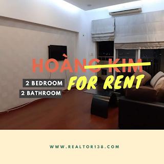 cho thuê chung cư hoàng kim 2 phòng ngủ đầy đủ nội thất