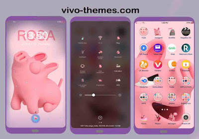 Tema Pink Lucu Untuk Oppo Realme Android Smartphone