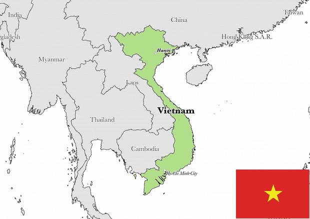 Peta Negara Vietnam Lengkap Dengan Kota Sumber Daya Alam Batas Wilayah Dan Keterangan Gambar Lainnya Geologinesia