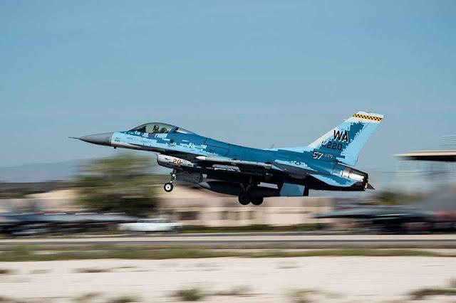 Aggressor Squadron blue F-16 Covid