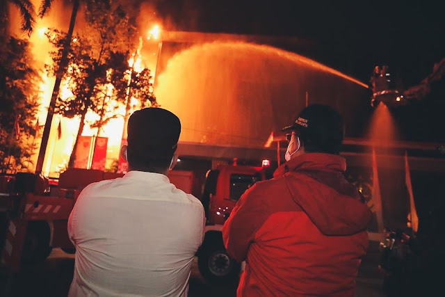 Gedung Kejaksaan Agung RI di Jakarta Selatan Terbakar