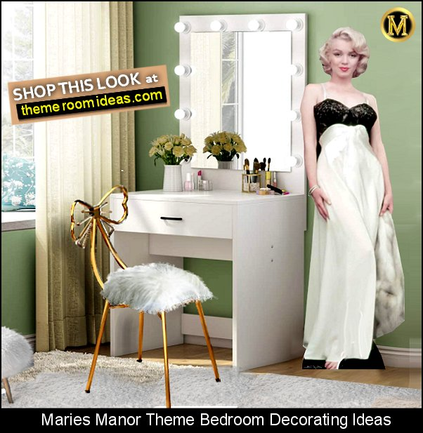 movie star bedroom marilyn monroe hollywood glam celebrity dreswsing room decorating