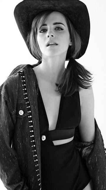 emma watson wallpaper black and white