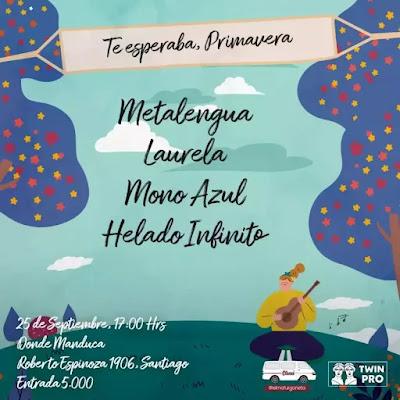 """""""Te esperaba, primavera"""" reune al aire libre a Laurela, Helado Infinito, Metalengua y MonoAzul musica chilena música chilena"""