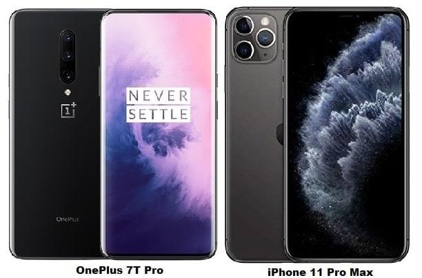 OnePlus 7T Pro Vs iPhone 11 Pro Max Specs Comparison