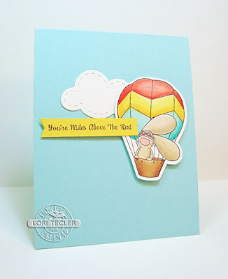 You're Miles Above the Rest card-designed by Lori Tecler/Inking Aloud-stamps and dies from The Cat's Pajamas