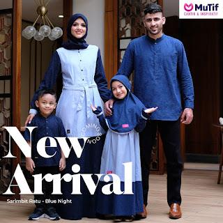 Koleksi Sarimbit  Family Mutif  Ratu Blue Night