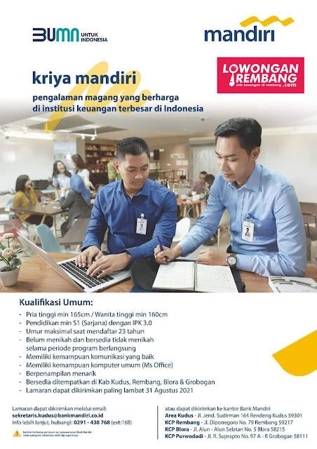 Lowongan Kerja Pegawai BUMN Bank Mandiri Rembang
