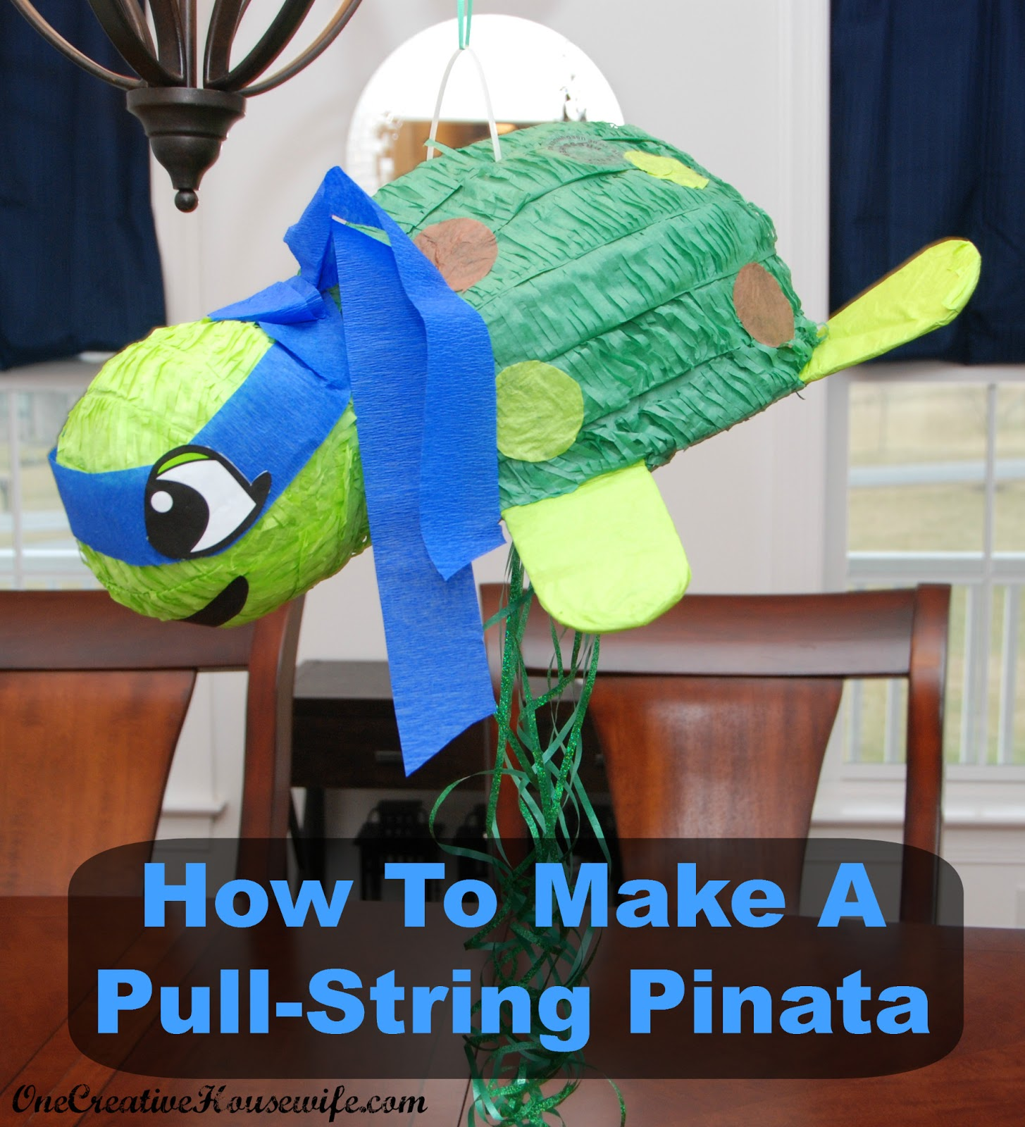 This Is Why I Like To Turn Regular Pinatas Into Pull String It Actually Very Easy And Can Be Done Any Pinata