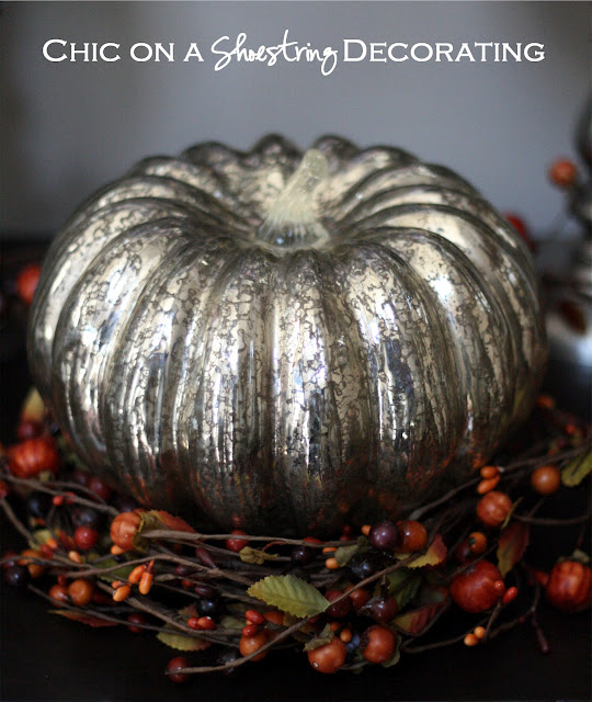 mercury glass pumpkin