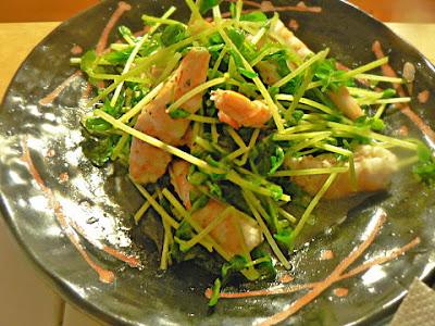 エビと豆苗のサラダ
