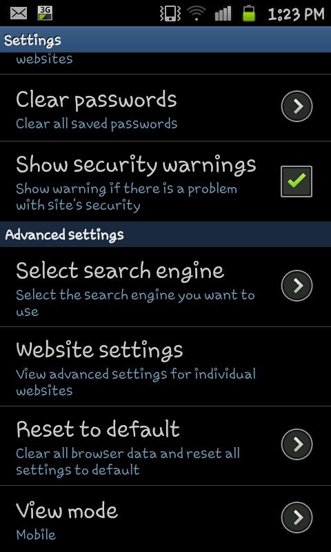 samsung galaxy s9 set default browser