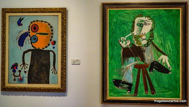 Obras de Miró e Picasso, Museu Botero, Bogotá