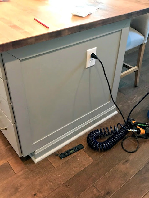How to add DIY detail to kitchen island