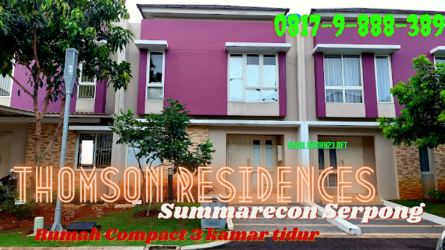 Thomson Residences Summarecon Serpong Rumah Dua Lantai ukuran 6X11