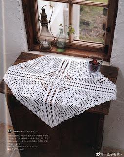Square doily filet crochet & tablecloth