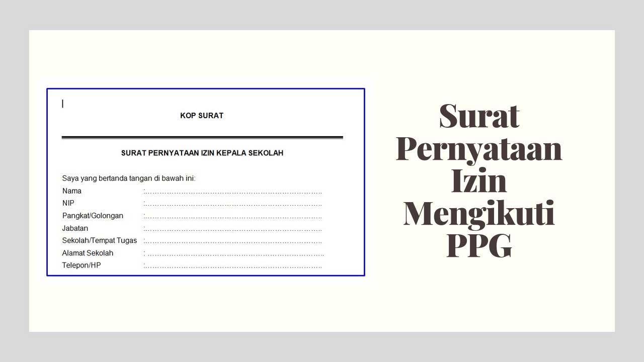 surat pernyataan izin mengikuti ppg