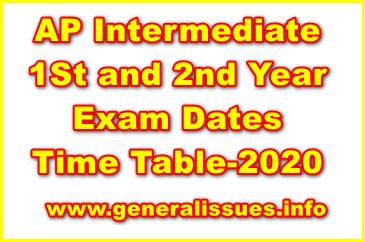 Ap-inter-1st-2nd year-Exam Dates
