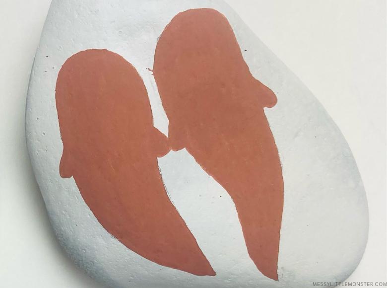 otter valentines painted rocks