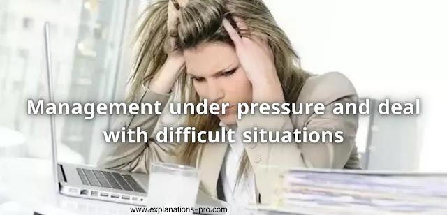 Management under pressure