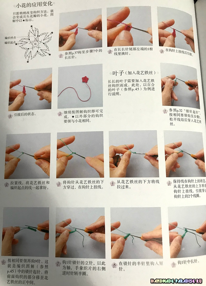 Гортензия крючком. Схемы вязания (2)