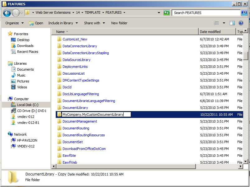 SharePoint  Co Creating a custom document library for SharePoint 2010
