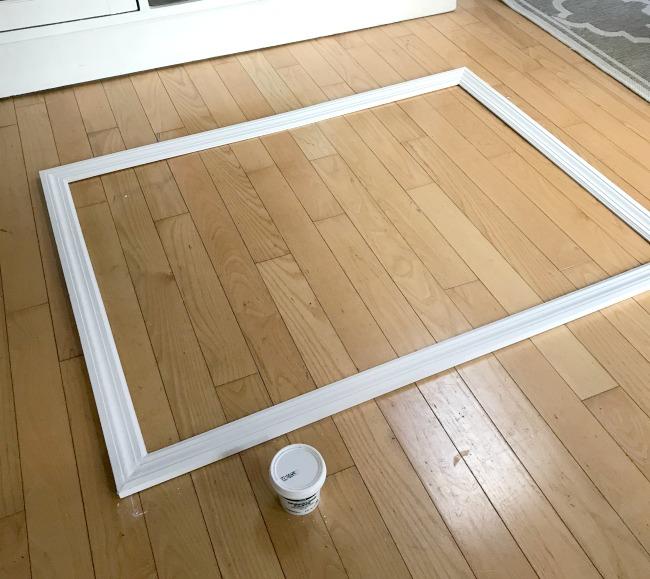 Frame on the floor