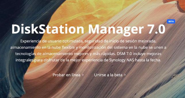 SISTEMA OPERATIVO SYNOLOGY DISKSTATION MANAGER 7.0 BETA