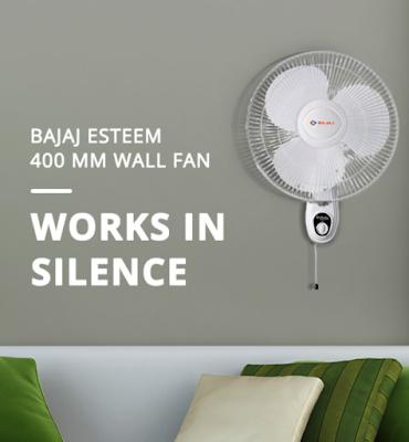 Bajaj Esteem 400 mm Wall Fan to Beat the Heat During This Summer