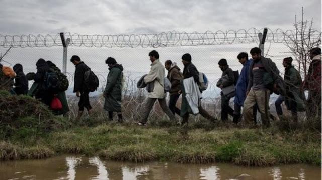 Συγκέντρωση διαμαρτυρίας για παράνομη μετανάστευση