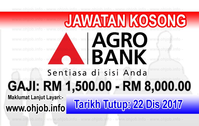 Jawatan Kerja Kosong Agrobank - Bank Pertanian Malaysia logo www.ohjob.info disember 2017