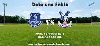 Data dan Fakta Fantasy Premier League GW 27 Everton vs Crystal Palace Fantasi Manager Indonesia