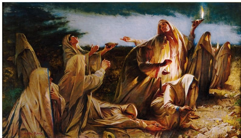 La parábola de las diez vírgenes (Mateo 25:1-13)