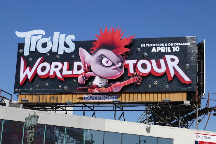 Trolls World Tour 3D Queen Barb billboard