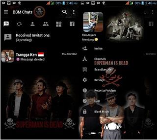 BBM MOD Tema Superman is Dead gelap V3.2.5.12