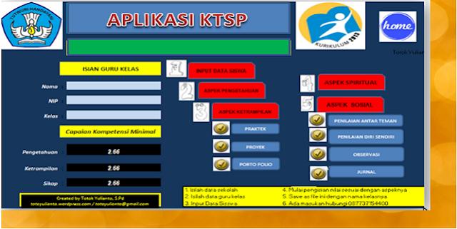 Download Aplikasi Penilaian KTSP Lengkap SD, SMP dan SMA