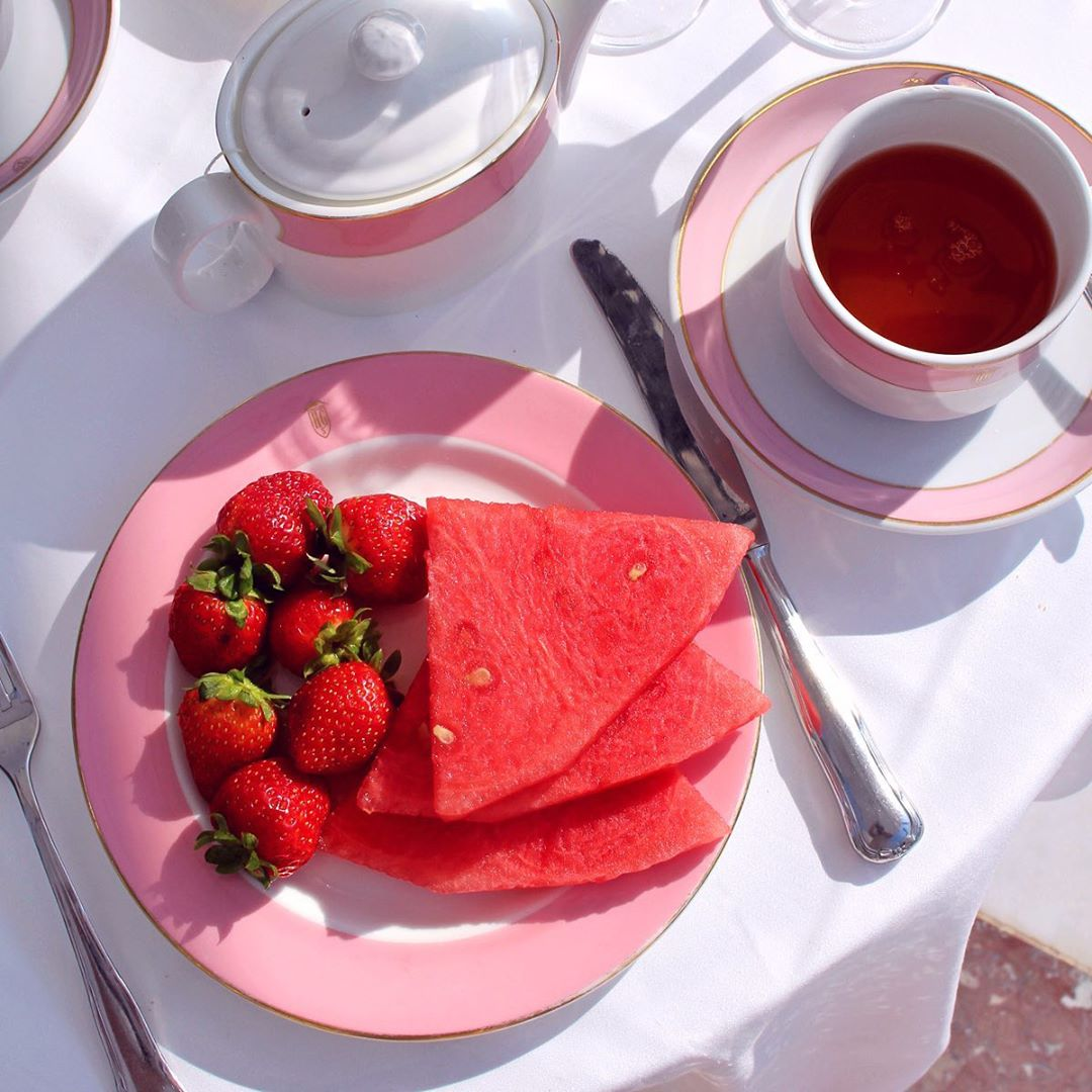 Sunny al fresco breakfast at Hostal de la Gavina, Girona Spain - travel & style blog