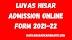 Luvas Hisar Admission Online Form 2021-22