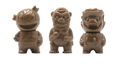 Mummy Boy, Wing Kong & Rose Vampire Brown Micro Vinyl Figures by Super7