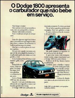propaganda Dodge 1800 - 1974, Dodge Dart 1974, chrysler anos 70, carro antigo chrysler, anos 70, década de 70, propaganda anos 70, Oswaldo Hernandez,