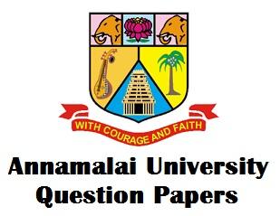 Annamalai University Distance Education Question Papers