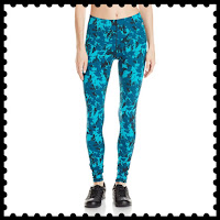 Style Athletics Workout Clothes Amazon Online Activewear Active Clothing Shop Crop Pants Leggings Yoga Blue Turquoise Aqua Pattern Print