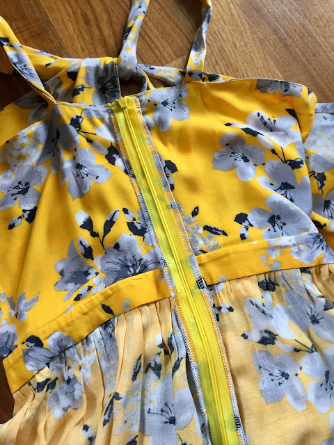 Diary of a Chain Stitcher: Yellow Floral Viscose Lonsdale Maxi Dress