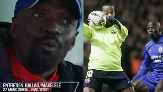 Ce qu'a dit Makélélé à Ronaldinho quand il a voulu l'humilier par un dribble