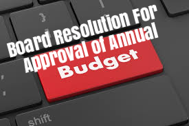 Board-Resolution-Approval-Annual-Budget