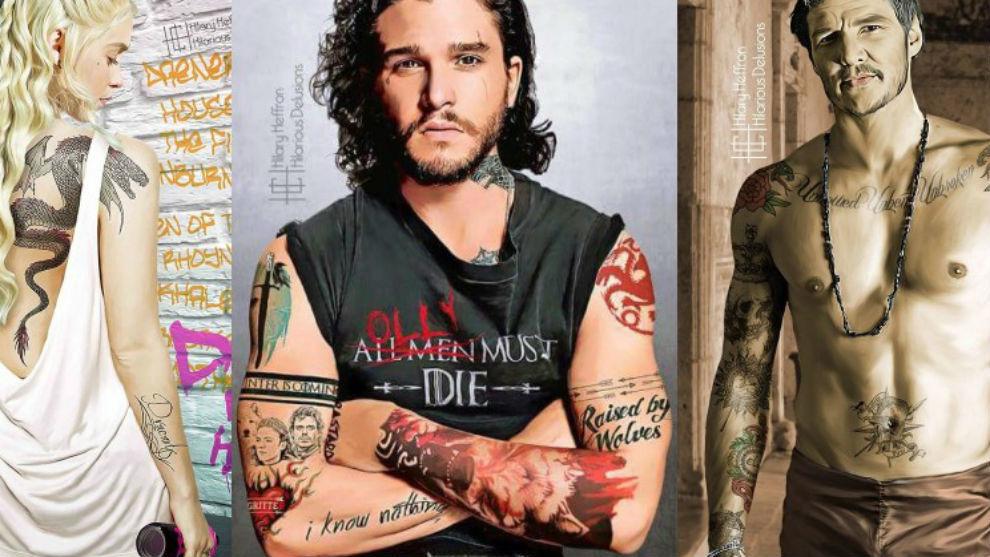 Protagonistas Juego De Tronos Tatuados
