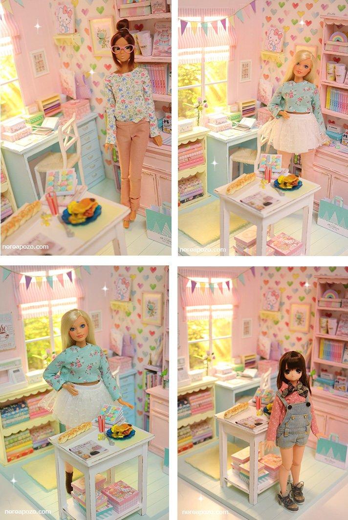 Casa de boneca e miniaturas