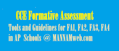 what is formative assessment?  Formative Assessment Strategies  Formative Assessment Tools  CCE Formative Assessment Tools and Guidelines for FA1, FA2, FA3 FA4  CCE is an attempt to shift from rote-learning to constructing knowledge and applying it as and when required. CCE is an ongoing process and is an integral part of the lesson. At every point of classroom transaction, we will have to assess what the child has learnt for which the same activities that are used for teaching / learning are used. The questions in the examination paper shall not simply be based on information given in the textbooks but shall create slots for the learner to use language in a meaningful way applying what she has learnt. So 'mugging up' by the student will not be of any use to him or her.