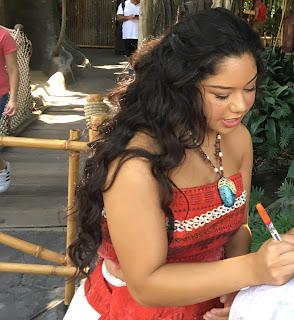 Moana Signing Autographs at Disneyland